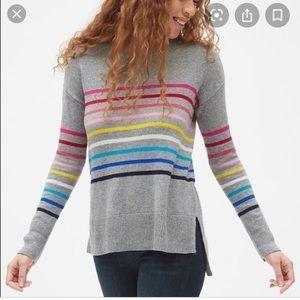 Gap 'crazy stripes' crew neck pullover sweater